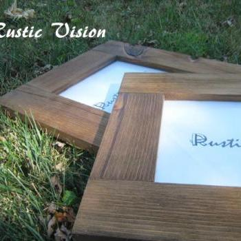 SET OF 2 8x10 Rustic Frames made of reclaimed wood